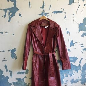 Vintage | Oxblood Leather Project Trench Coat